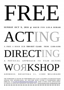 Join our free try-out class in Belgrade, Serbia!
